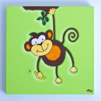 Monkey Canvas Green - 1